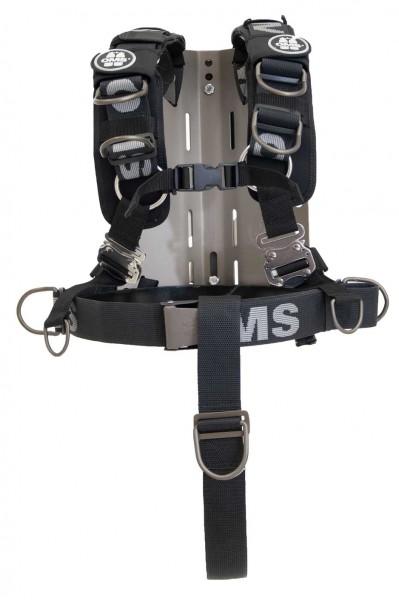 OMS Edelstahl Backplate inkl. Comfort Harness System III