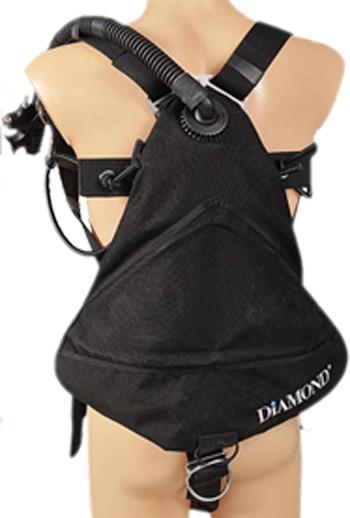 """DirZone Sidemount Jacket """"DIAMOND"""" Rückansicht"""