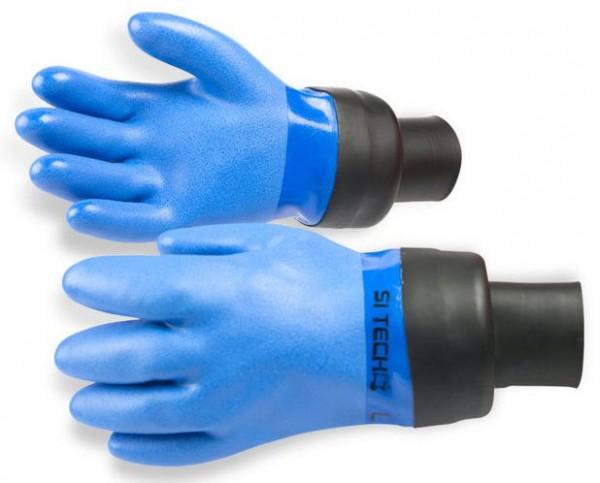 SiTech Latex Handschuhe mit Manschette Trocken (Blau)