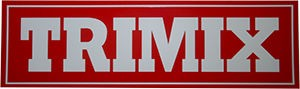 TRIMIX Aufkleber (Rot)