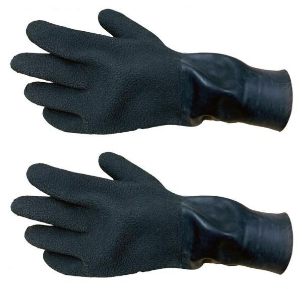 Latex Handschuhe mit Manschette Trocken (Schwarz)