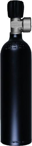 Alu Flasche 0,85ltr. 230Bar