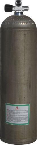 LUXFER ALU Stage Erweiterteres Monoventil LINKS 80cuft - 11,1 Liter (Natur) SIDEMOUNT