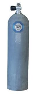 11,1 Liter (80 cuft) ALU Stage Tauchflasche NATUR