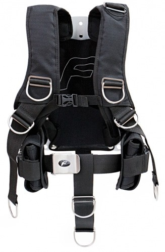 FINNSUB Fly Comfort Harness inkl. 3mm Backplate (schwarz)