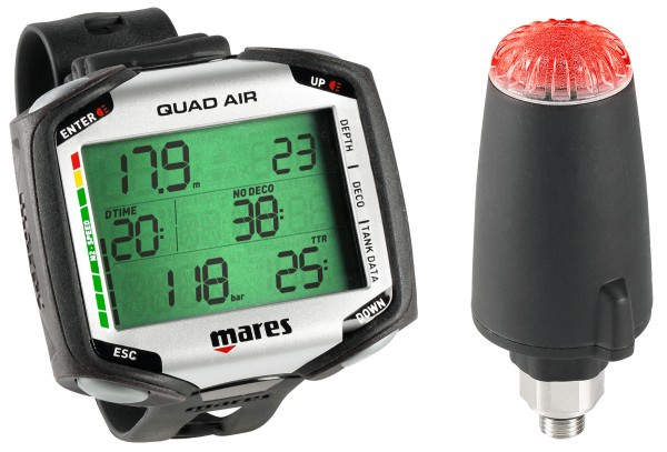 Mares QUAD Air Tauchcomputer inkl. Sender