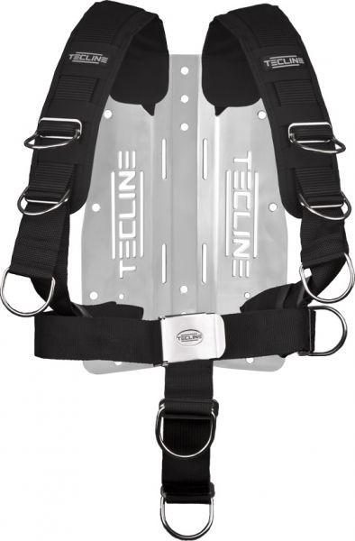 Tecline 3mm Edelstahl Backplate inkl. Comfort Harness