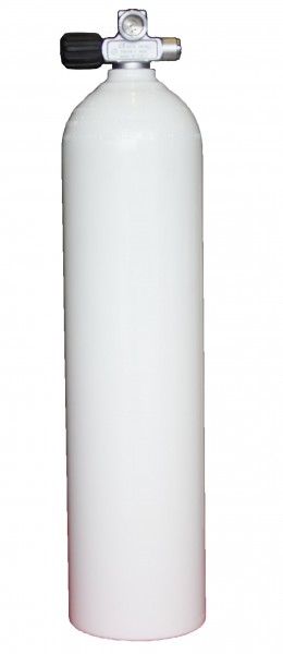 LUXFER ALU Stage Erw. Monoventil LINKS 7 Liter (Weiss)