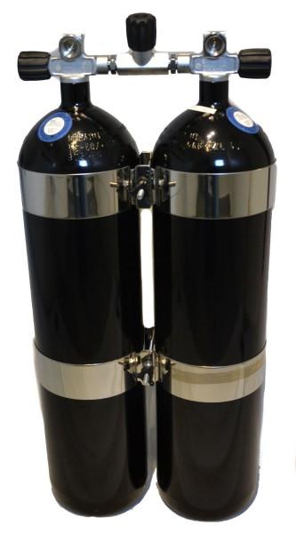 BtS Doppel 12 Tauchflasche Schwarz Konkav
