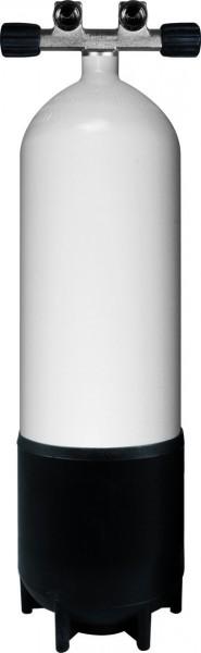 BtS Tauchflasche 10 Liter Stahl inkl. T-Doppelventil (232Bar)