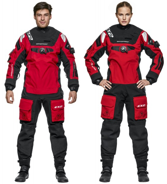 Waterproof EX2 Trockentauchanzug ROT