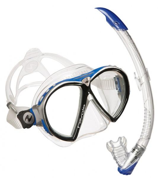 Aqualung Favola Maske inkl. Schnorchel Blau
