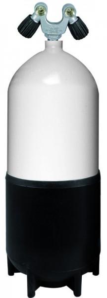 DIRZONE Tauchflasche 12 Liter kurz inkl. Y-Doppelventil (232Bar)